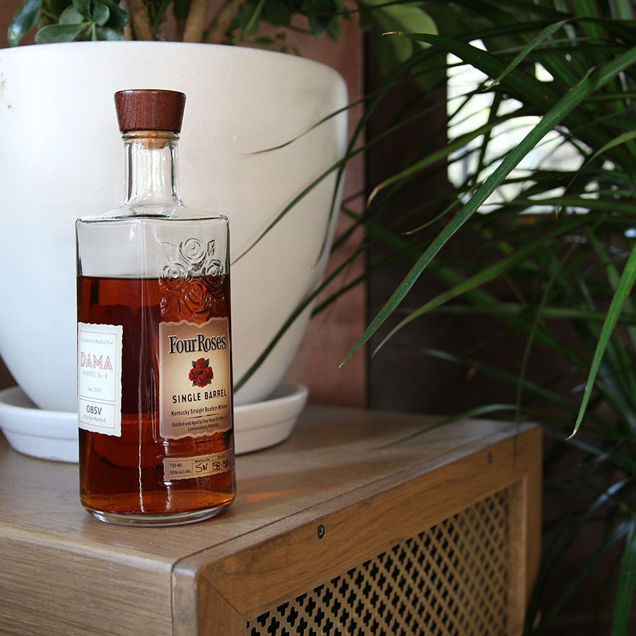bottle of premium bourbon
