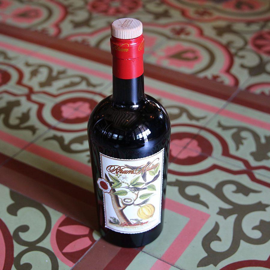 bottle of wine on vintage tile