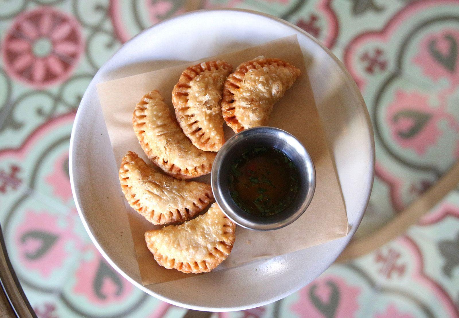 4 Empenadas on a plate