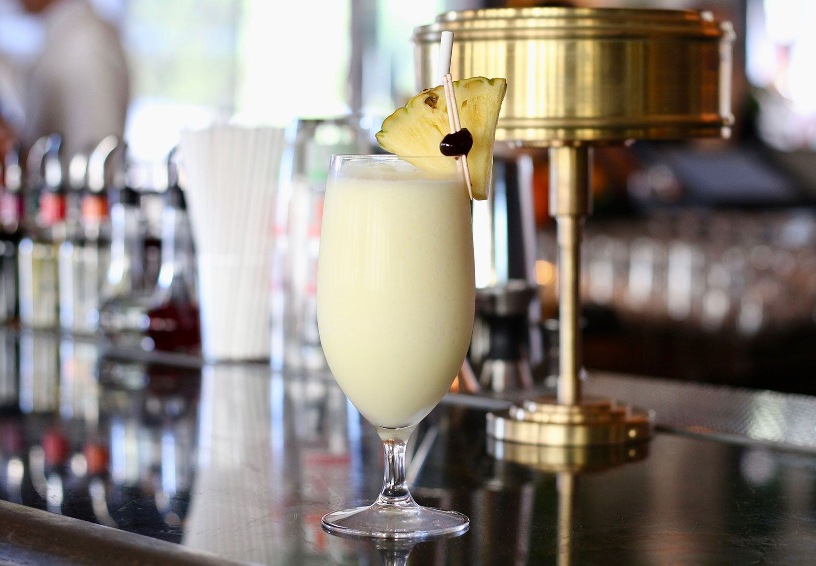 Pina Colada on a bar